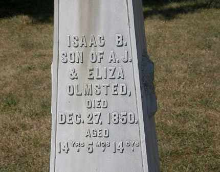 OLMSTED, ISAAC B. - Delaware County, Ohio | ISAAC B. OLMSTED - Ohio Gravestone Photos