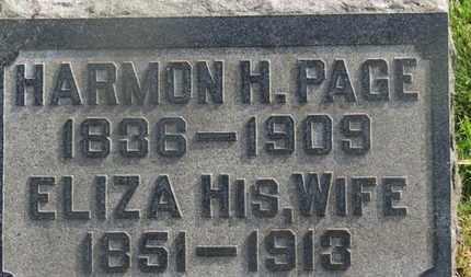 PAGE, HARMON H. - Delaware County, Ohio | HARMON H. PAGE - Ohio Gravestone Photos