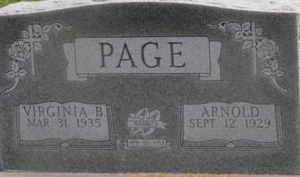 PAGE, VIRGINIA B. - Delaware County, Ohio | VIRGINIA B. PAGE - Ohio Gravestone Photos
