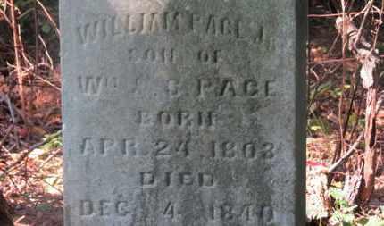 PAGE, WM. - Delaware County, Ohio | WM. PAGE - Ohio Gravestone Photos