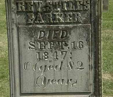 PARKER, REV. STILES - Delaware County, Ohio | REV. STILES PARKER - Ohio Gravestone Photos