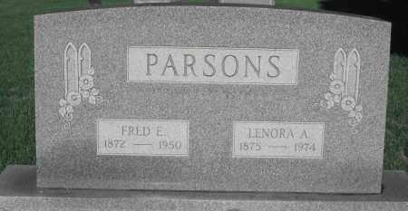 PARSONS, LENORA A. - Delaware County, Ohio   LENORA A. PARSONS - Ohio Gravestone Photos