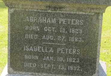 PETERS, ABRAHAM - Delaware County, Ohio | ABRAHAM PETERS - Ohio Gravestone Photos