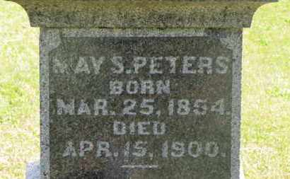 PETERS, MAY S. - Delaware County, Ohio   MAY S. PETERS - Ohio Gravestone Photos