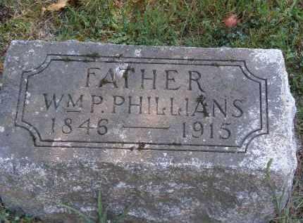 PHILLIANS, WM. P. - Delaware County, Ohio   WM. P. PHILLIANS - Ohio Gravestone Photos