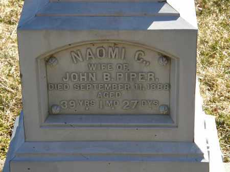PIPER, NAOMI C. - Delaware County, Ohio | NAOMI C. PIPER - Ohio Gravestone Photos