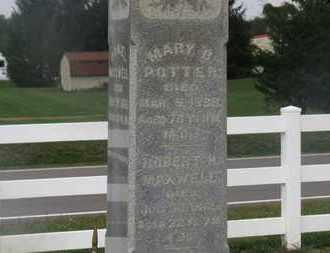 POTTER, MARY B. - Delaware County, Ohio | MARY B. POTTER - Ohio Gravestone Photos