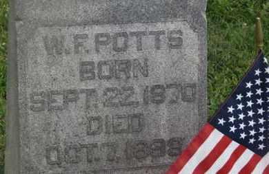 POTTS, W.F. - Delaware County, Ohio | W.F. POTTS - Ohio Gravestone Photos
