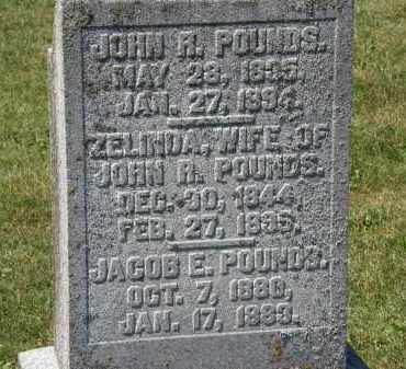 POUNDS, ZELINDA - Delaware County, Ohio | ZELINDA POUNDS - Ohio Gravestone Photos