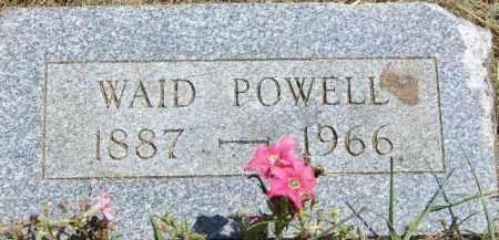 POWELL, WAID ANDREW - Delaware County, Ohio | WAID ANDREW POWELL - Ohio Gravestone Photos