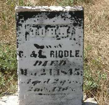 RIDDLE, G. - Delaware County, Ohio | G. RIDDLE - Ohio Gravestone Photos