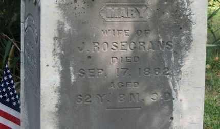ROSECRANS, MARY - Delaware County, Ohio   MARY ROSECRANS - Ohio Gravestone Photos