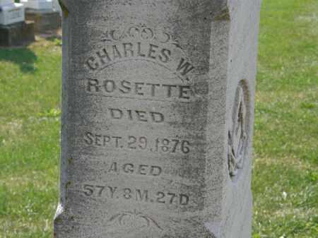 ROSETTE, CHARLES W. - Delaware County, Ohio   CHARLES W. ROSETTE - Ohio Gravestone Photos