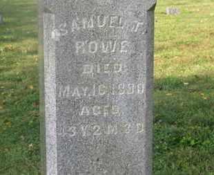 ROWE, SAMUEL T. - Delaware County, Ohio   SAMUEL T. ROWE - Ohio Gravestone Photos