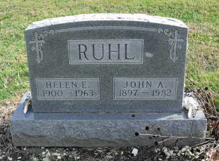 RUHL, HELEN E. - Delaware County, Ohio   HELEN E. RUHL - Ohio Gravestone Photos