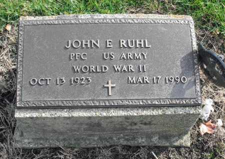RUHL, JOHN E. - Delaware County, Ohio   JOHN E. RUHL - Ohio Gravestone Photos