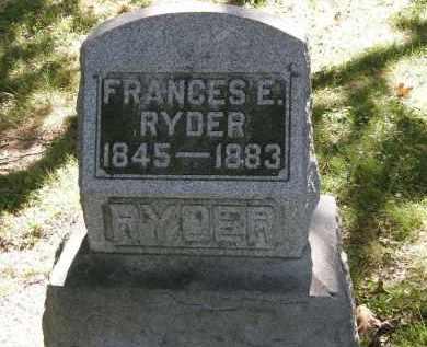 RYDER, FRANCES E. - Delaware County, Ohio | FRANCES E. RYDER - Ohio Gravestone Photos