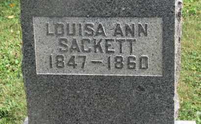 SACKETT, LOUISA ANN - Delaware County, Ohio   LOUISA ANN SACKETT - Ohio Gravestone Photos
