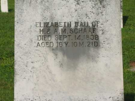 SCHAAF, ELIZABETH - Delaware County, Ohio | ELIZABETH SCHAAF - Ohio Gravestone Photos