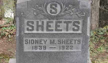 SHEETS, SIDNEY M. - Delaware County, Ohio | SIDNEY M. SHEETS - Ohio Gravestone Photos