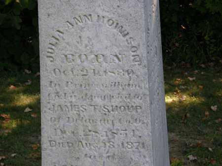 SHOUP, JULIA ANN - Delaware County, Ohio | JULIA ANN SHOUP - Ohio Gravestone Photos