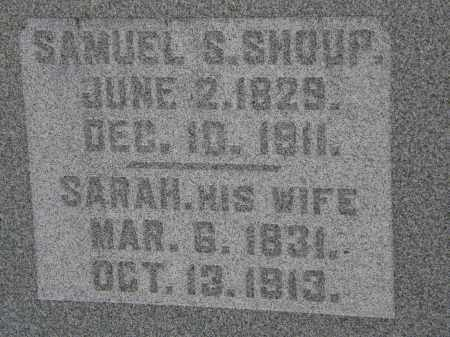 SHOUP, SARAH - Delaware County, Ohio | SARAH SHOUP - Ohio Gravestone Photos