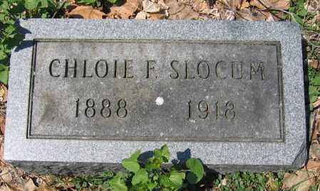 SLOCUM, CHLOIE F. - Delaware County, Ohio | CHLOIE F. SLOCUM - Ohio Gravestone Photos