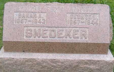 SNEDEKER, SARAH A. - Delaware County, Ohio   SARAH A. SNEDEKER - Ohio Gravestone Photos