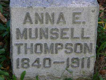 MUNSELL THOMPSON, ANNA E. - Delaware County, Ohio   ANNA E. MUNSELL THOMPSON - Ohio Gravestone Photos