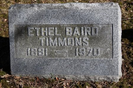 BAIRD TIMMONS, ETHEL - Delaware County, Ohio   ETHEL BAIRD TIMMONS - Ohio Gravestone Photos