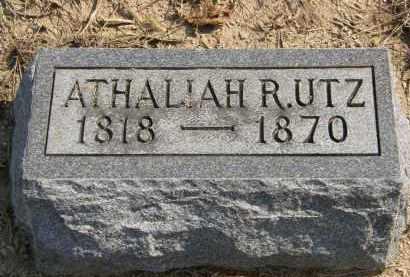 UTZ, ATHALIAH R. - Delaware County, Ohio   ATHALIAH R. UTZ - Ohio Gravestone Photos