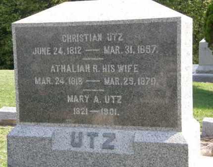 UTZ, MARY A. - Delaware County, Ohio | MARY A. UTZ - Ohio Gravestone Photos