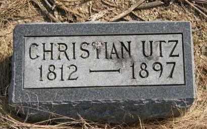 UTZ, CHRISTIAN - Delaware County, Ohio   CHRISTIAN UTZ - Ohio Gravestone Photos