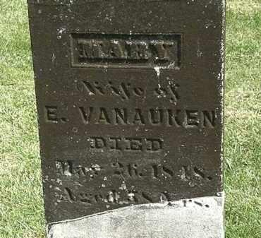VANAUKEN, MARY - Delaware County, Ohio | MARY VANAUKEN - Ohio Gravestone Photos