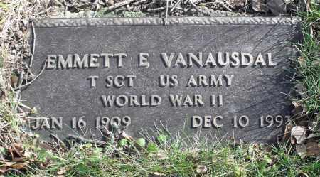 VANAUSDAL, EMMETT E. - Delaware County, Ohio   EMMETT E. VANAUSDAL - Ohio Gravestone Photos
