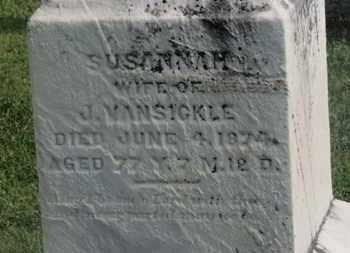 VANSICKLE, SUSANNAH - Delaware County, Ohio | SUSANNAH VANSICKLE - Ohio Gravestone Photos
