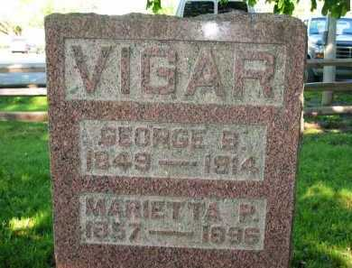 VIGAR, GEORGE B. - Delaware County, Ohio | GEORGE B. VIGAR - Ohio Gravestone Photos