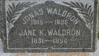 WALDRON, JANE K. - Delaware County, Ohio | JANE K. WALDRON - Ohio Gravestone Photos