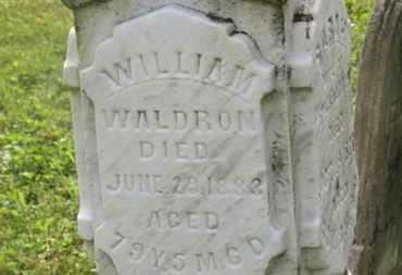 WALDRON, WILLIAM - Delaware County, Ohio   WILLIAM WALDRON - Ohio Gravestone Photos