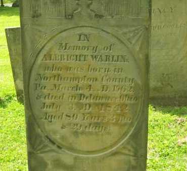 WARLINE, ALBRIGHT - Delaware County, Ohio   ALBRIGHT WARLINE - Ohio Gravestone Photos