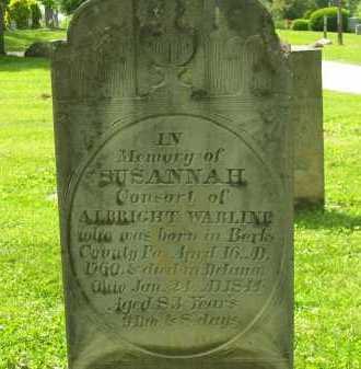 WARLINE, SUSANNAH - Delaware County, Ohio   SUSANNAH WARLINE - Ohio Gravestone Photos