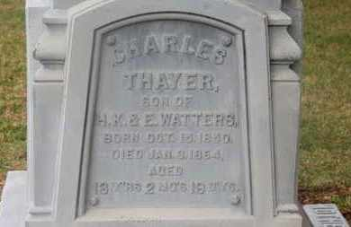 WATTERS, CHARLES THAYER - Delaware County, Ohio | CHARLES THAYER WATTERS - Ohio Gravestone Photos