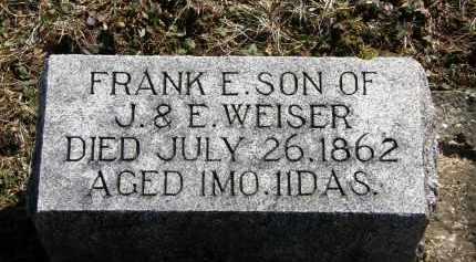 WEISER, J. - Delaware County, Ohio | J. WEISER - Ohio Gravestone Photos
