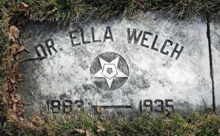 WELCH, ELLA - Delaware County, Ohio   ELLA WELCH - Ohio Gravestone Photos