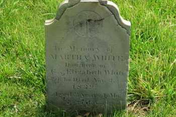 WHITE, MARTHA - Delaware County, Ohio | MARTHA WHITE - Ohio Gravestone Photos