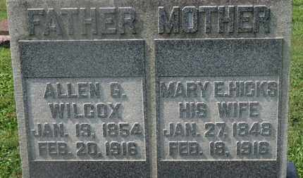 WILCOX, ALLEN G. - Delaware County, Ohio   ALLEN G. WILCOX - Ohio Gravestone Photos