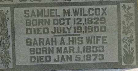 WILCOX, SARAH A. - Delaware County, Ohio   SARAH A. WILCOX - Ohio Gravestone Photos