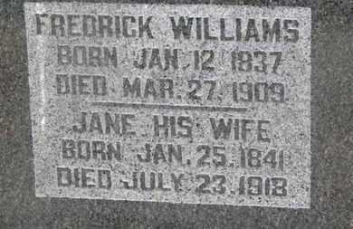 WILLIAMS, FREDRICK - Delaware County, Ohio | FREDRICK WILLIAMS - Ohio Gravestone Photos