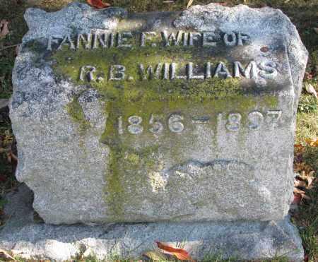 WILLIAMS, FANNIE F. - Delaware County, Ohio   FANNIE F. WILLIAMS - Ohio Gravestone Photos