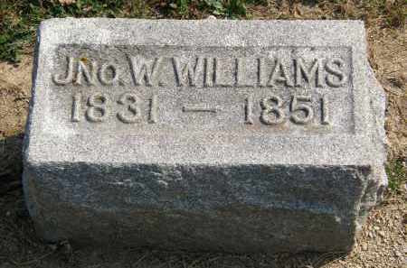 WILLIAMS, JNO. W. - Delaware County, Ohio | JNO. W. WILLIAMS - Ohio Gravestone Photos